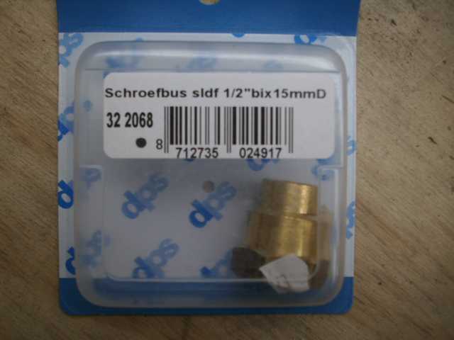 "schroefbus soldeer fitting 1/2""x15mm"