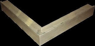 Aluminium trim buitenhoek 60x64mm